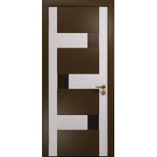 Ульяновская дверь Ронда-1 венге/ясень белый стекло триплекс бронзовый