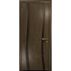 Ульяновская дверь Грация-2 американский орех стекло триплекс бронзовый «вьюнок» матовый