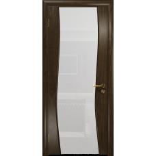 Ульяновская дверь Грация-3 американский орех тонированный стекло триплекс белый