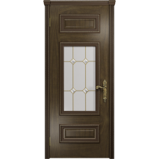 Ульяновская дверь Версаль-4 американский орех стекло витраж «адель»