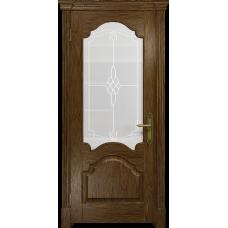 Ульяновская дверь Валенсия-1 сукупира стекло белое пескоструйное «корено»