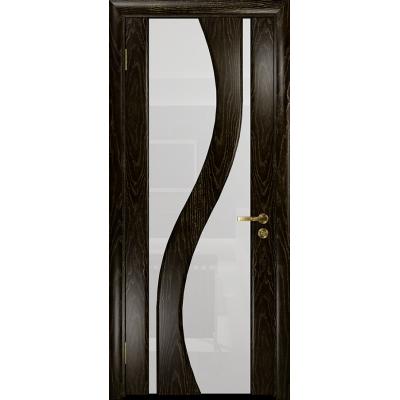 Ульяновская дверь Веста ясень венге золото стекло триплекс белый