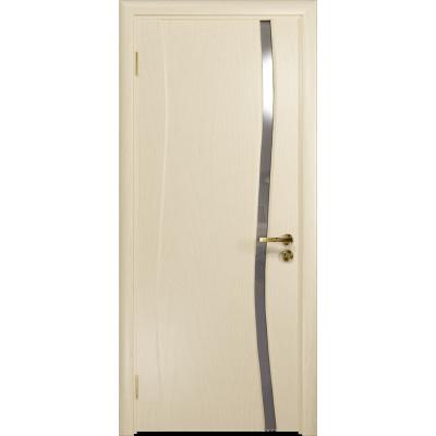 Ульяновская дверь Грация-1 ясень слоновая кость стекло триплекс зеркало