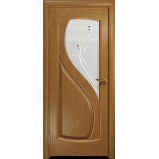 Ульяновская дверь Диона-1 анегри стекло белое пескоструйное «капля»