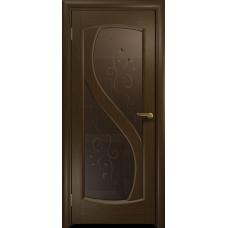 Ульяновская дверь Диона-2 венге стекло бронзовое пескоструйное «лилия»