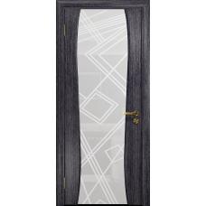 Ульяновская дверь Портелло-2 абрикос стекло триплекс белый 3d «куб»