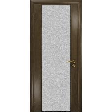 Ульяновская дверь Триумф-3 американский орех стекло триплекс белый с тканью
