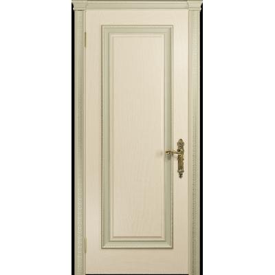 Ульяновская дверь Версаль-5 Декор ясень слоновая кость глухая