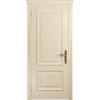 Ульяновская дверь Версаль-1 Декор ясень слоновая кость глухая