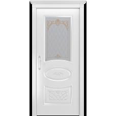 Ульяновская дверь Багет-3 белая эмаль  ДО