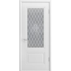 Ульяновская дверь Британия-1С белая эмаль ДО
