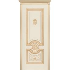 Ульяновская дверь Гамма эмаль слоновая кость патина золото ДГ
