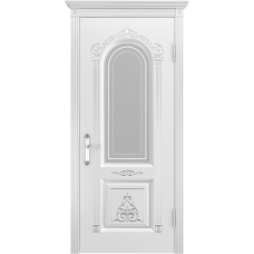 Ульяновская дверь Ода-1 белая эмаль ДО