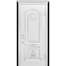 Ульяновская дверь Ода-3 белая эмаль ДГ