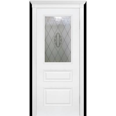Ульяновская дверь Турин-4 белая эмаль ДО