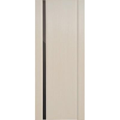 Ульяновская дверь Спектр-1 белёный дуб ДО чёрное