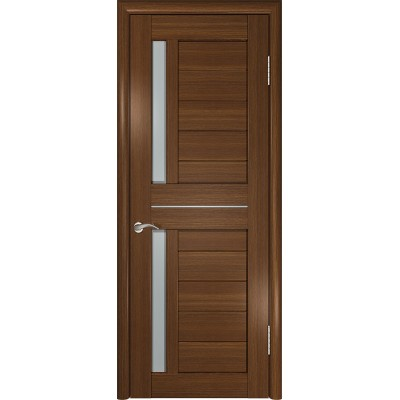 Межкомнатная дверь экошпон ЛУ-27 тёмный орех