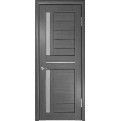 Межкомнатная дверь экошпон ЛУ-27 серая