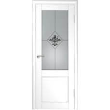 Дверь экошпон ЛУ-33 белая