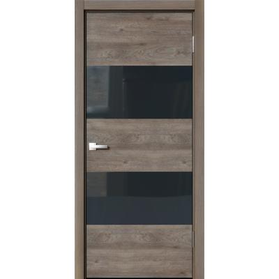 Межкомнатная дверь экошпон N-02 эдисон коричневый