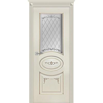 Дверь Карина-8 эмаль ваниль патина перламутр ДО