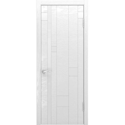 Ульяновская дверь Арт-1 ясень белая эмаль