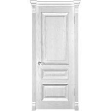 Ульяновская дверь Фараон-2 дуб белая эмаль ДГ