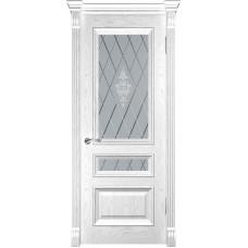 Ульяновская дверь Фараон-2 дуб белая эмаль ДО