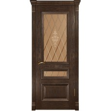 Ульяновская дверь Фараон-2 морёный дуб ДО