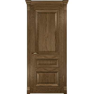 Ульяновская дверь Фараон-2 светлый морёный дуб ДГ