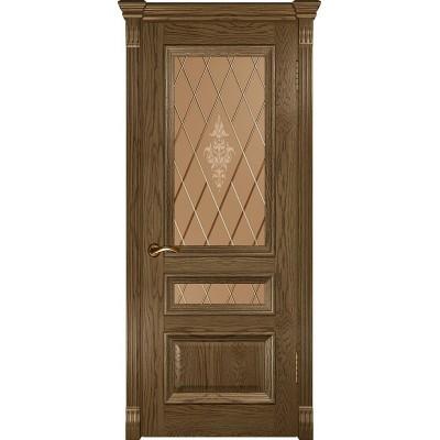 Ульяновская дверь Фараон-2 светлый морёный дуб ДО