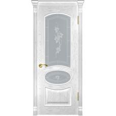 Ульяновская дверь Грация дуб белая эмаль ДО