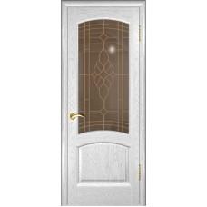 Ульяновская дверь Лаура дуб белая эмаль ДО