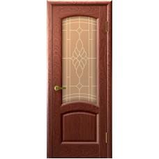 Ульяновская дверь Лаура красное дерево ДО
