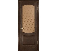 Ульяновская дверь Лаура-2 морёный дуб ДО