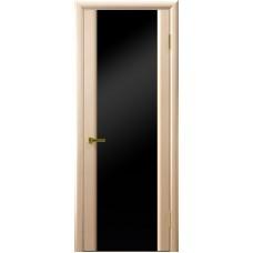Ульяновские двери Синай-3 белёный дуб ДО чёрное