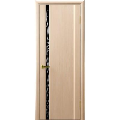 Ульяновская дверь Трава-1 белёный дуб