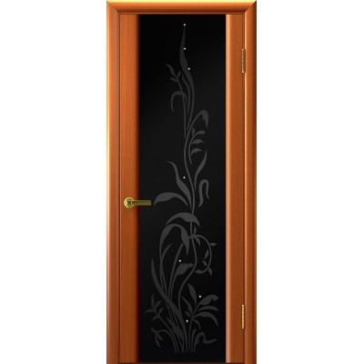 Ульяновская дверь Трава-2 тёмный анегри