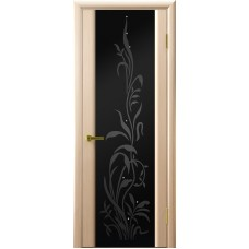 Ульяновская дверь Трава-2 белёный дуб