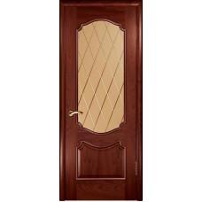 Ульяновская дверь Венеция красное дерево ДО