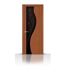 Дверь СитиДорс модель Корунд цвет Анегри темный стекло