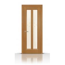 Дверь СитиДорс модель Крит цвет Анегри светлый стекло