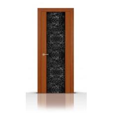 Дверь СитиДорс модель Дождь цвет Анегри темный