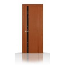 Дверь СитиДорс модель Бриллиант-1 цвет Анегри темный триплекс чёрный