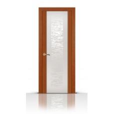Дверь СитиДорс модель Вейчи цвет Анегри темный триплекс белый