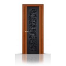 Дверь СитиДорс модель Вейчи цвет Анегри темный триплекс чёрный