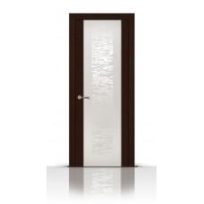 Дверь СитиДорс модель Вейчи цвет Венге триплекс белый