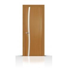 Дверь СитиДорс модель Жемчуг-1 цвет Анегри светлый триплекс белый