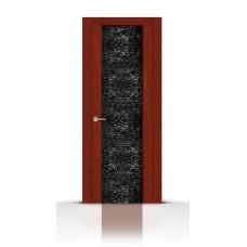 Дверь СитиДорс модель Дождь цвет Красное дерево