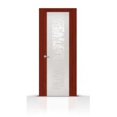 Дверь СитиДорс модель Вейчи цвет Красное дерево триплекс белый